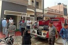 shop fire due to short circuit goods burnt