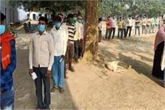 up by election long line seen in malhani seat of jaunpur