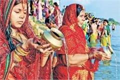 songs of chhath maiya are echoing in bihar