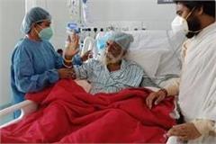 mahant nritya gopal das s health improves