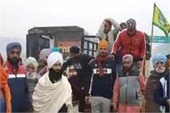 farmers gather along punjab haryana border