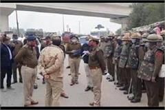 haryana police blockade on delhi borders