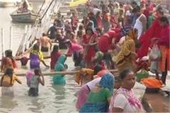 ladies reached the ganges ghats in patna