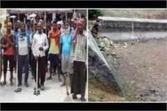 hamirpur 45 lakhs spent in cleaning the silt of check dams