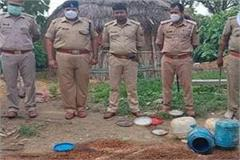 basti police search operation against illegal liquor 7 accused arrested
