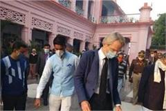 french ambassador emanuel lenin joins gorakhnath temple