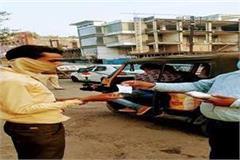 spot fine on 108 people in bhopal in a single day