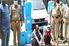 agra police crackdown on sellers of raw liquor three arrested