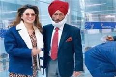 actress urvashi rautela touched milkha singh feet