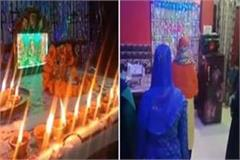 muslim women performed lakshmi ganesh pujan harmony on diwali