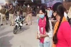 up a soldier arrived on the road to tease a female inspector