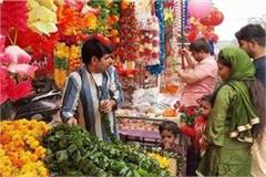 the demand for flowers increased in the market on diwali