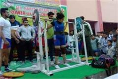 haryana players showed talent in power lifting competition
