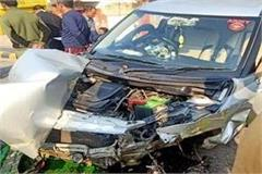 collision between car and truck