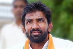 yogeshwar congratulates induraj on winning the baroda by election