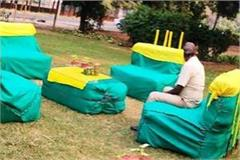 new idea of pau officer sofa set prepared from parali