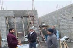 vishal neharia inspects the reconstruction work of shri himani chamunda temple