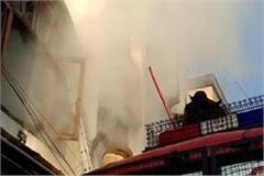 muzaffarnagar fierce fire in clothing showroom fearing loss of millions