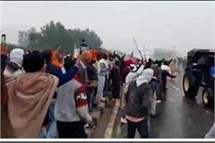 farmers broke barricades in kurukshetra police used water canon