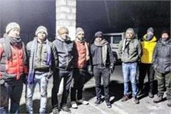 police rescued 5 engineers of army