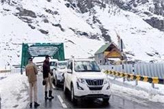 manali leh route restored for army vehicles