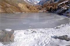 lakes and sewers started freezing in lahaul spiti