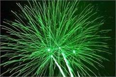 firecrackers will burn between 8 and 10 pm on diwali night