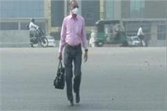 weather took a turn on sunday pollution levels also dropped due to wind