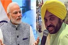 bhagwant mann speak against pm modi