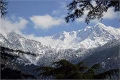snow laden mountains from triund to billing