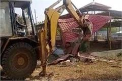 bulldozer run at parashuram ashram in rewa