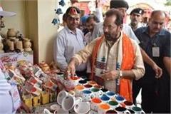 naqvi took stock of the skills of more than 27 states in hunar haat