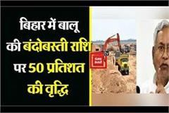 50 percent increase in sand settlement amount in bihar