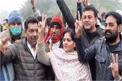 haryana lokhit party supported candidate nisha bajaj waved