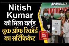 nitish kumar gets world book of record certificate