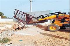 city planning department s yellow claw on illegal construction