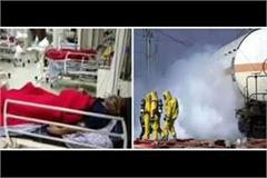 major accident at iffco plant 2 officers killed in ammonia gas leak