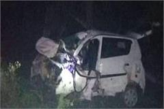 road accident car rammed into tree by uncontrolled three youths killed