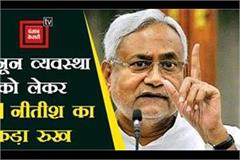 cm nitish strict about crime