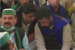 bhim army chief  in support of farmers on delhi ghazipur border