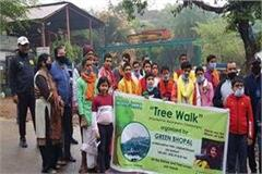 message of environmental awareness through  treewalk