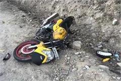 2 motorcycles clashed on the highway near purana kangra