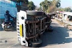 jeep overturned on jahu ghumarvin road