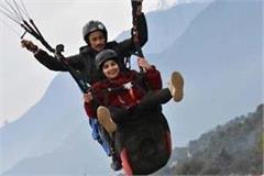 actress vidya balan enjoyed tandem flight in billing