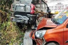 3 vehicles collied on chandigarh manali nh