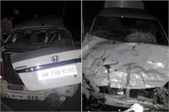 three died in road accident in karnal