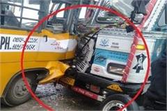 truck collided with nursing girl s bus