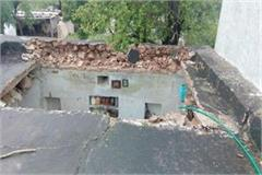 house razed due to rain no casualties occurred