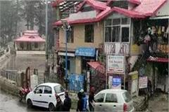 kufri chail route closed for vehicles due to snowfall