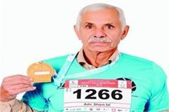 72 year old advocate sham lal holds record in marathon running